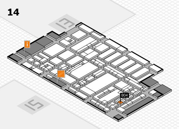 ProWein 2017 Hallenplan (Halle 14): Stand B04