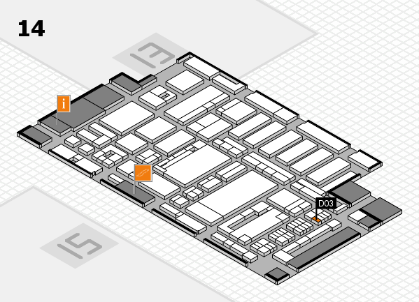 ProWein 2017 hall map (Hall 14): stand D03