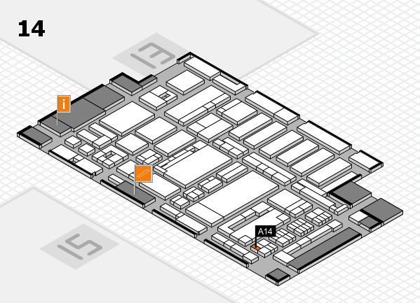 ProWein 2017 hall map (Hall 14): stand A14