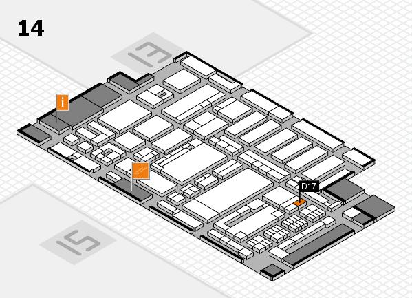 ProWein 2017 Hallenplan (Halle 14): Stand D17