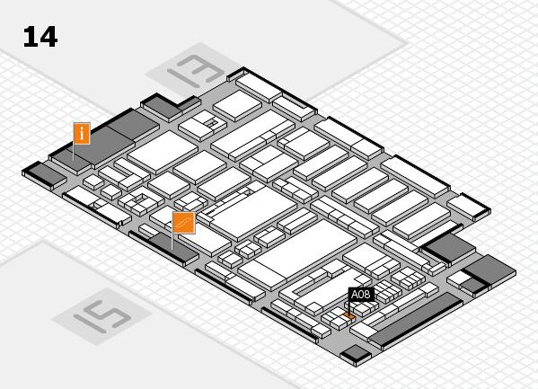 ProWein 2017 Hallenplan (Halle 14): Stand A08