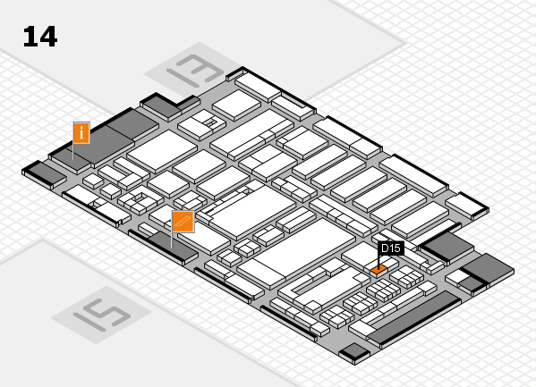 ProWein 2017 hall map (Hall 14): stand D15