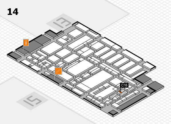 ProWein 2017 hall map (Hall 14): stand C18