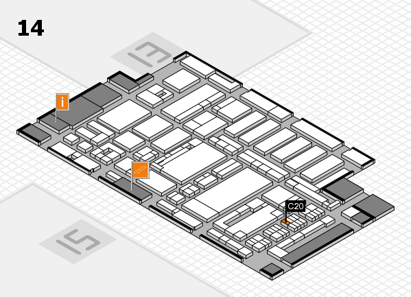 ProWein 2017 hall map (Hall 14): stand C20