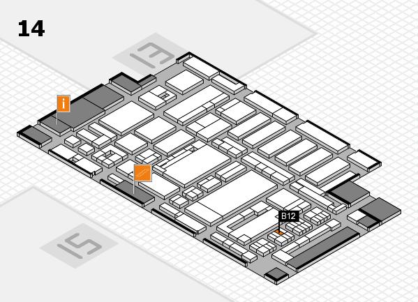 ProWein 2017 hall map (Hall 14): stand B12