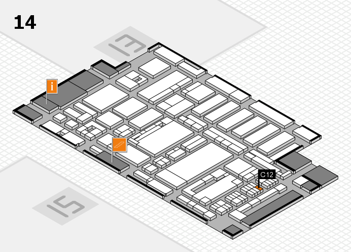 ProWein 2017 hall map (Hall 14): stand C12