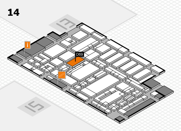ProWein 2017 hall map (Hall 14): stand D69