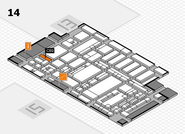 ProWein 2017 Hallenplan (Halle 14): Stand C89