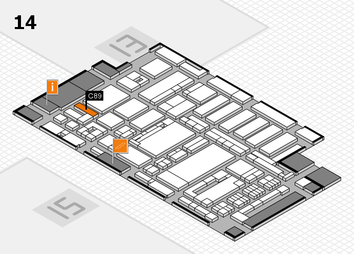 ProWein 2017 hall map (Hall 14): stand C89