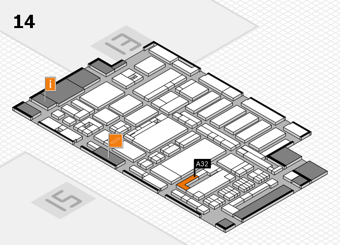 ProWein 2017 hall map (Hall 14): stand A32