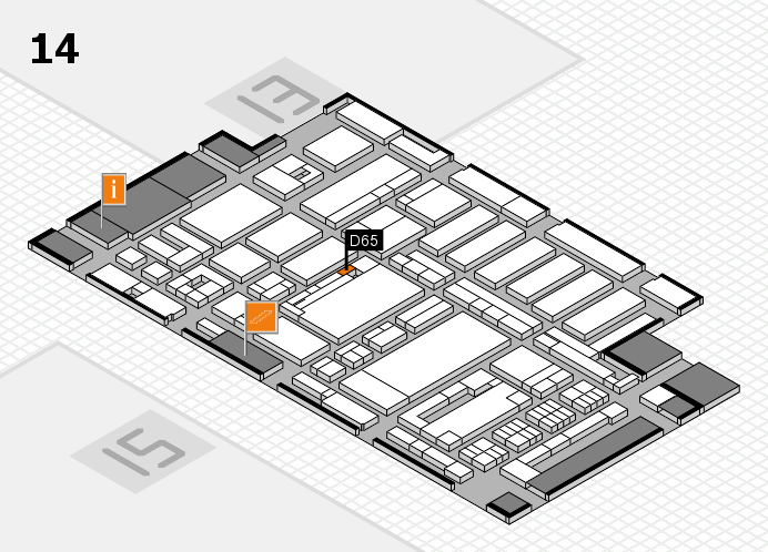 ProWein 2017 hall map (Hall 14): stand D65