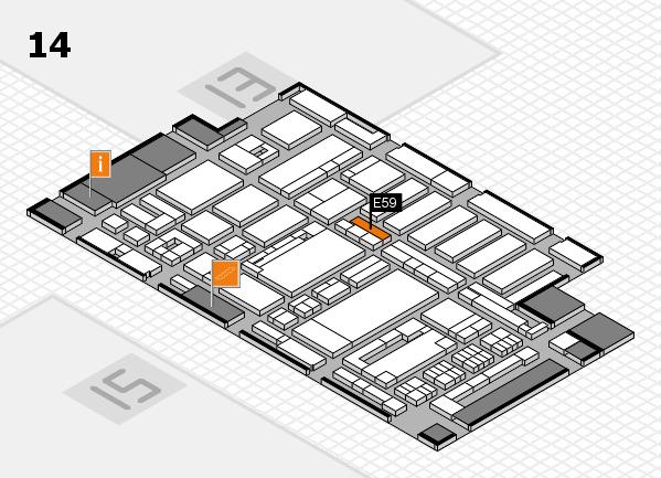 ProWein 2017 hall map (Hall 14): stand E59