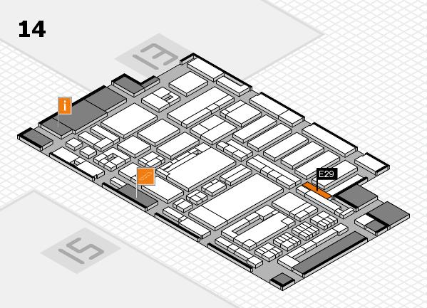 ProWein 2017 hall map (Hall 14): stand E29