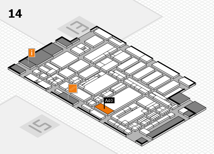 ProWein 2017 hall map (Hall 14): stand A40