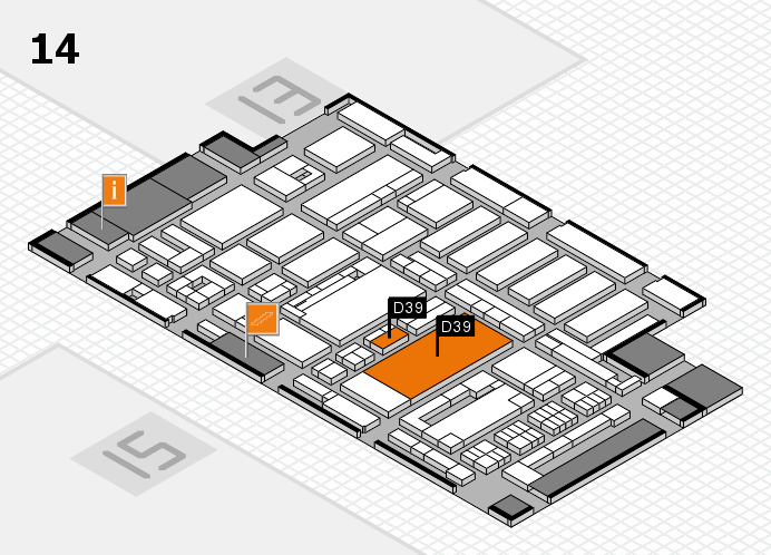 ProWein 2017 hall map (Hall 14): stand D39