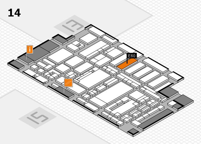 ProWein 2017 hall map (Hall 14): stand E60