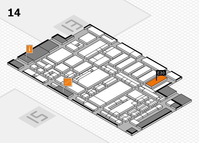 ProWein 2017 Hallenplan (Halle 14): Stand E30