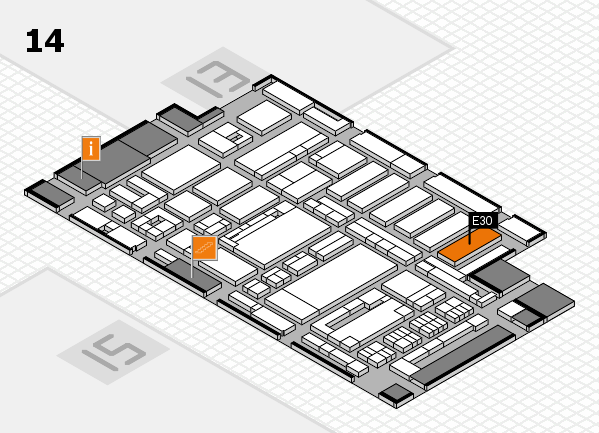ProWein 2017 hall map (Hall 14): stand E30