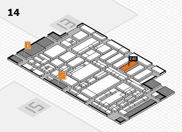 ProWein 2017 Hallenplan (Halle 14): Stand E46