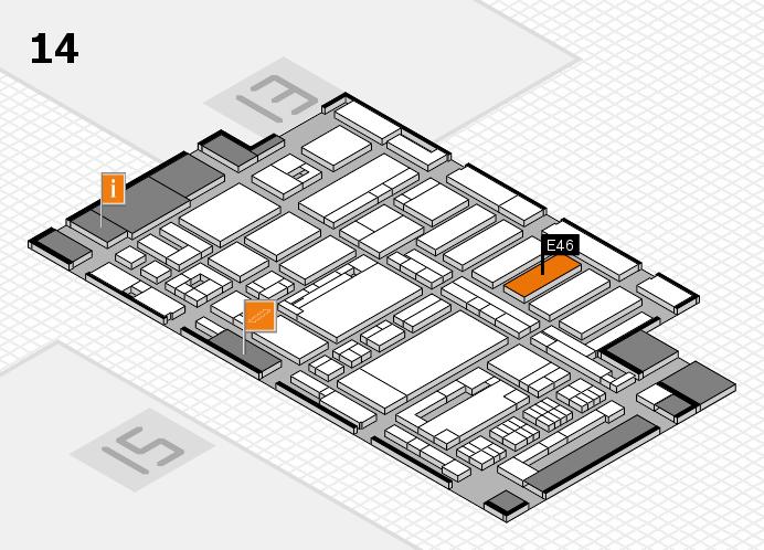ProWein 2017 hall map (Hall 14): stand E46