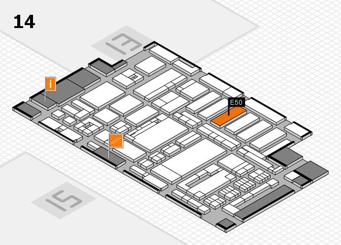 ProWein 2017 hall map (Hall 14): stand E50