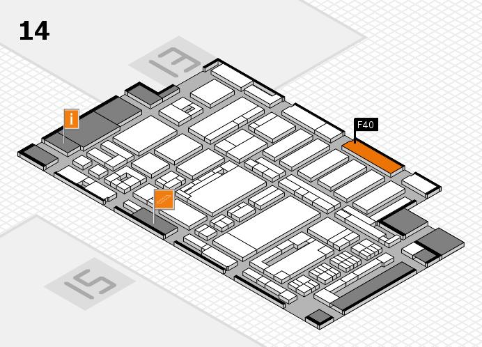 ProWein 2017 Hallenplan (Halle 14): Stand F40