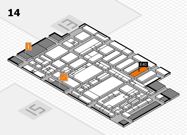 ProWein 2017 hall map (Hall 14): stand E40