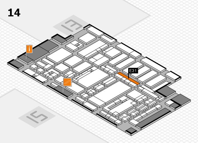 ProWein 2017 hall map (Hall 14): stand E31