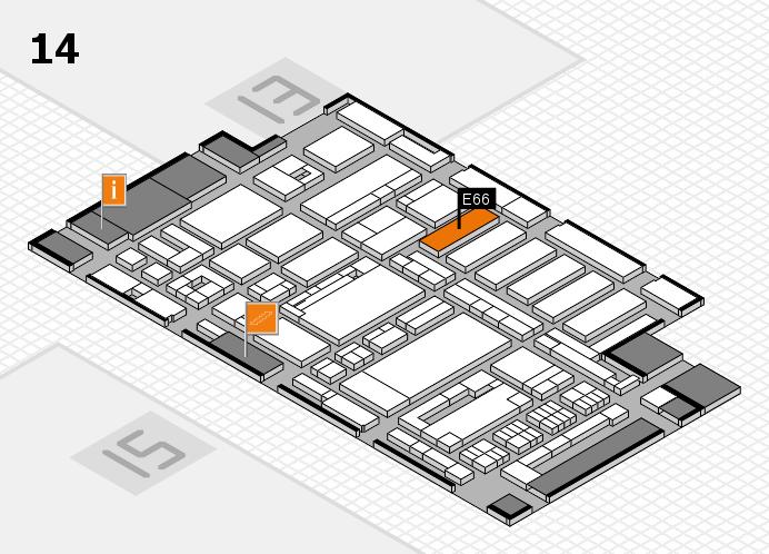 ProWein 2017 hall map (Hall 14): stand E66