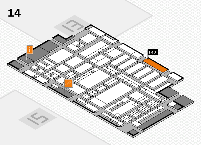 ProWein 2017 hall map (Hall 14): stand F40
