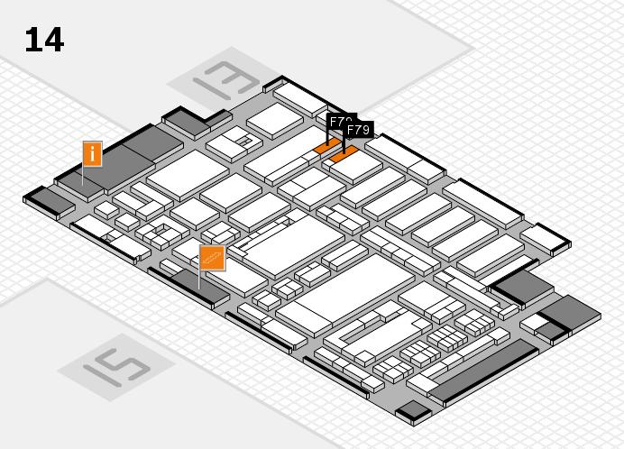 ProWein 2017 Hallenplan (Halle 14): Stand F79