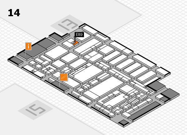 ProWein 2017 hall map (Hall 14): stand E89