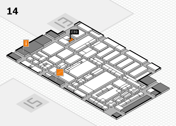 ProWein 2017 Hallenplan (Halle 14): Stand E89