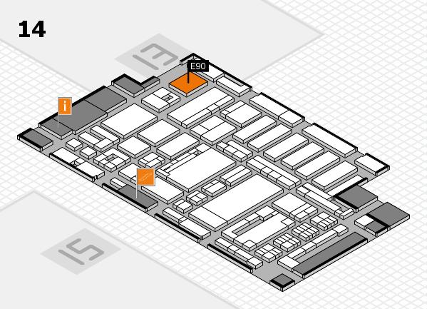 ProWein 2017 hall map (Hall 14): stand E90