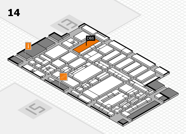 ProWein 2017 hall map (Hall 14): stand D86