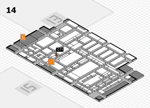 ProWein 2017 Hallenplan (Halle 14): Stand C71