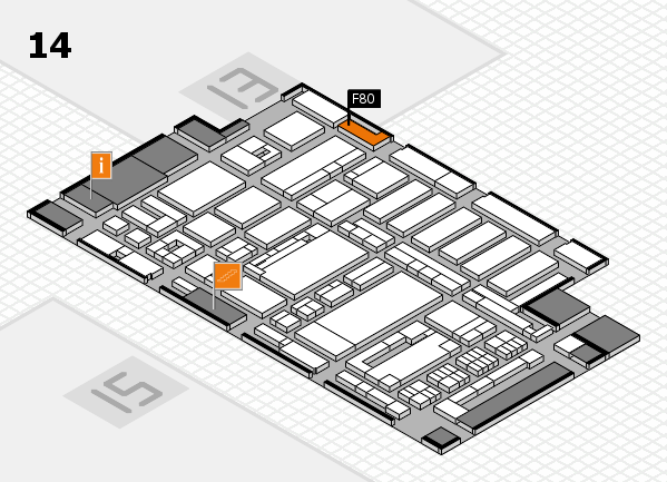 ProWein 2017 hall map (Hall 14): stand F80