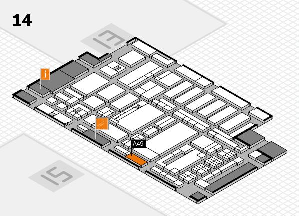 ProWein 2017 Hallenplan (Halle 14): Stand A49