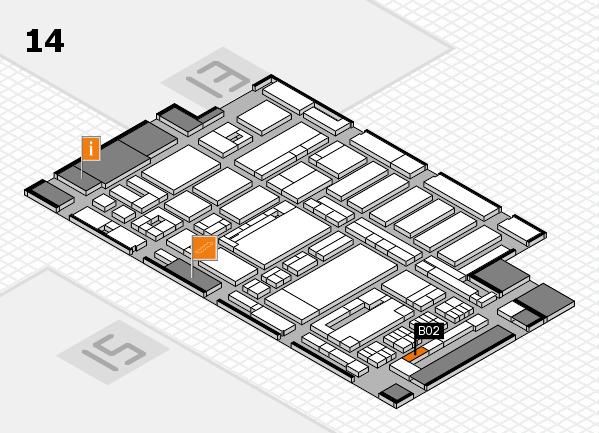 ProWein 2017 Hallenplan (Halle 14): Stand B02