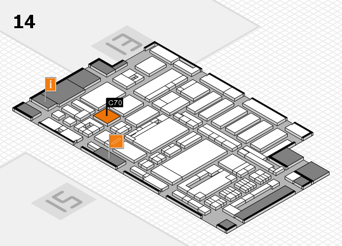 ProWein 2017 hall map (Hall 14): stand C70