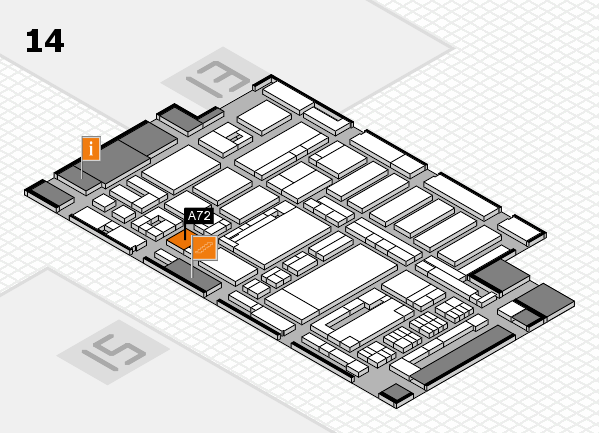 ProWein 2017 hall map (Hall 14): stand A72