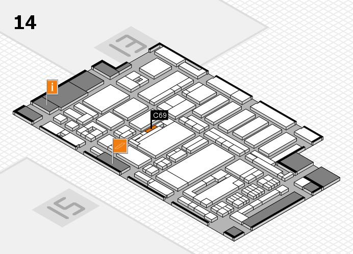 ProWein 2017 Hallenplan (Halle 14): Stand C69