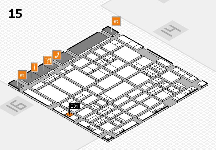 ProWein 2017 hall map (Hall 15): stand E81