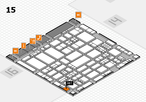 ProWein 2017 hall map (Hall 15): stand A81