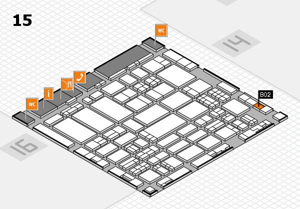 ProWein 2017 hall map (Hall 15): stand B02
