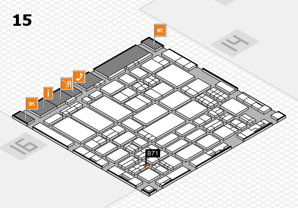 ProWein 2017 hall map (Hall 15): stand B71