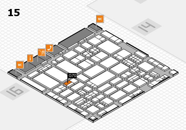 ProWein 2017 Hallenplan (Halle 15): Stand G70