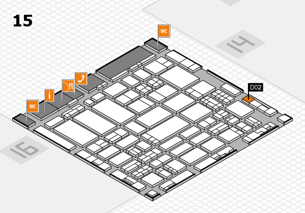 ProWein 2017 hall map (Hall 15): stand D02