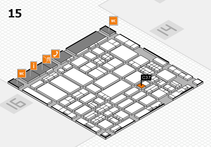 ProWein 2017 hall map (Hall 15): stand C37