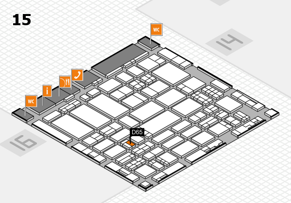 ProWein 2017 hall map (Hall 15): stand D65
